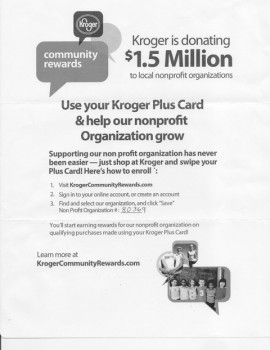 Kroger Rewards 2014